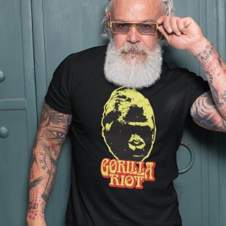 Gorilla Riot - Mens - 70s Silverback - Black - Tee