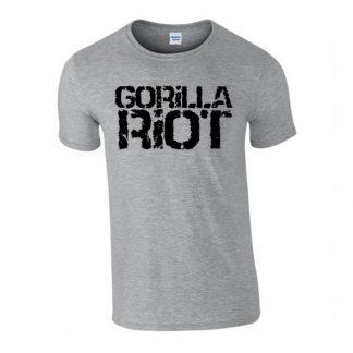 Gorilla Riot - Logo Tee - Mens - Grey