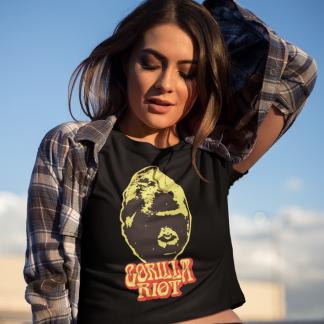 Gorilla Riot - Womens - 70s Silverback - Black - Tee